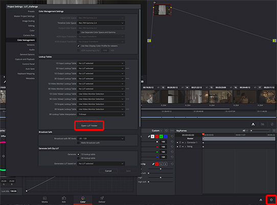 Applying LUTs in color grading | Shooting with S-Log for