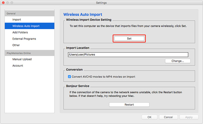 Importing images | How to use (Mac) | Image Management