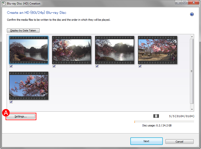 Saving videos to a Blu-ray Disc or DVD | How to use (Windows