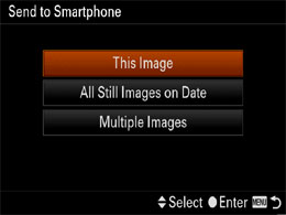 Sending images from Cyber-shot to an Android smartphone